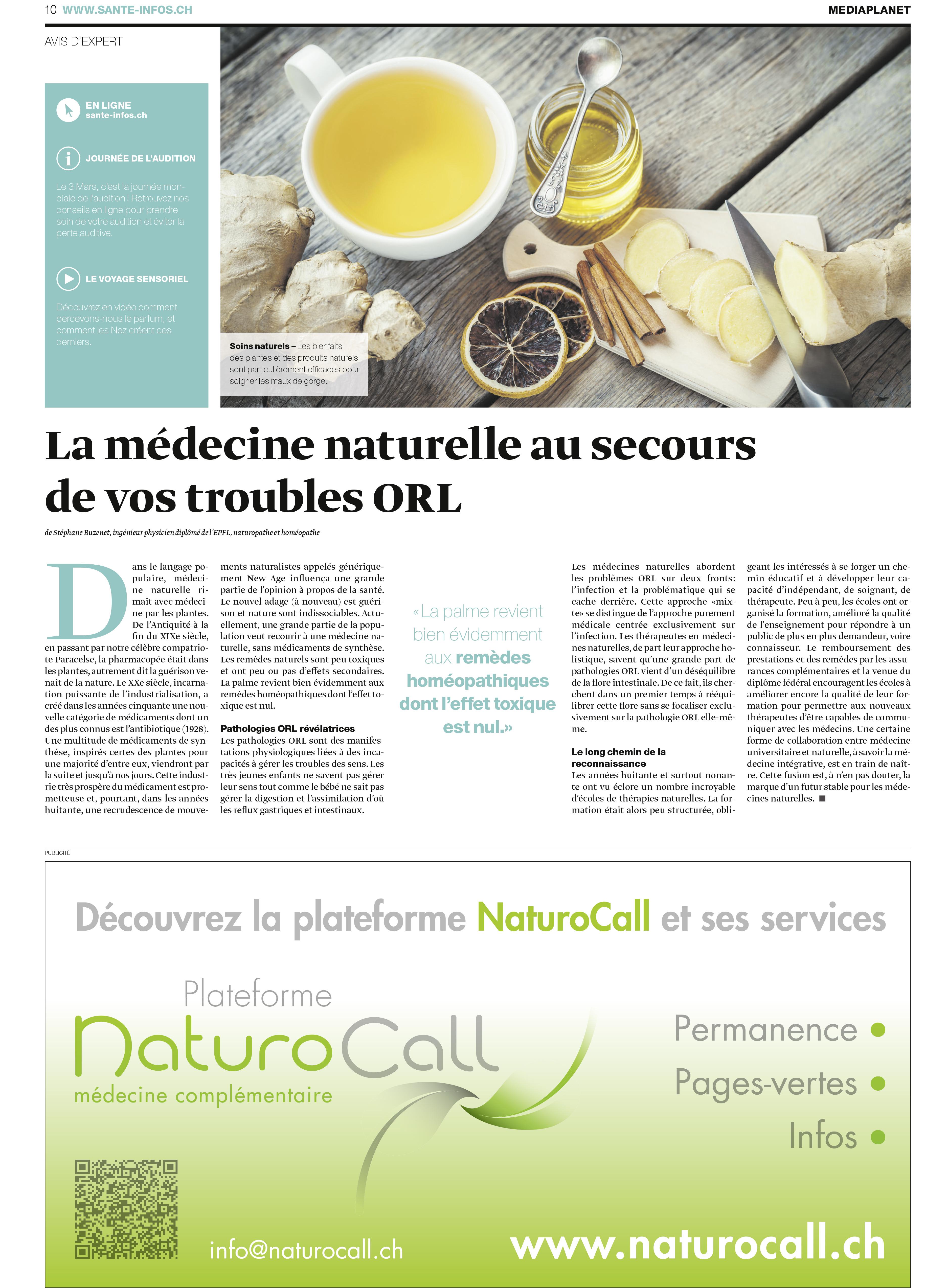 MediaPlanet : La médecine naturelle au secours de vos troubles ORL